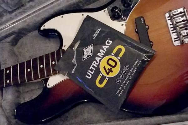La Bella 760T-S SHORT SCALE White Nylon Tape Wound Bass Guitar Strings