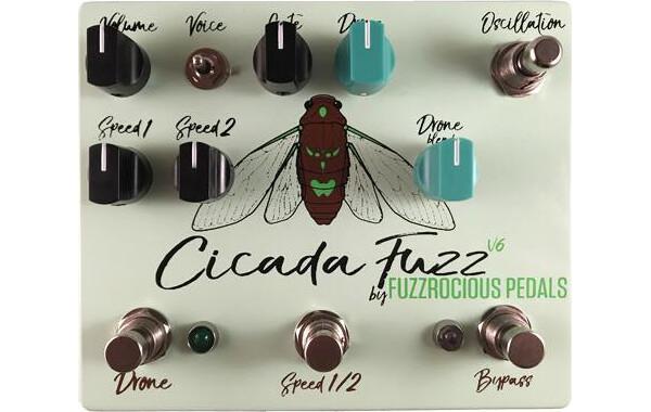 Fuzzrocious Pedals Announces the Cicada Fuzz V6 Pedal
