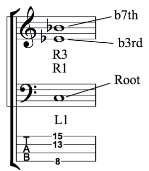 Developing Simultaneous Chordal and Bass Line Accompaniment - Fig 1g
