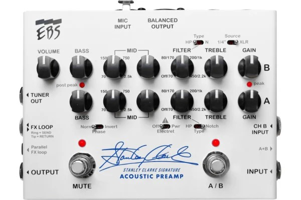 EBS Unveils Stanley Clarke Signature Acoustic Preamp Pedal