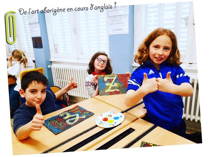 A la découverte de l'art aborigène en cours d'anglais !