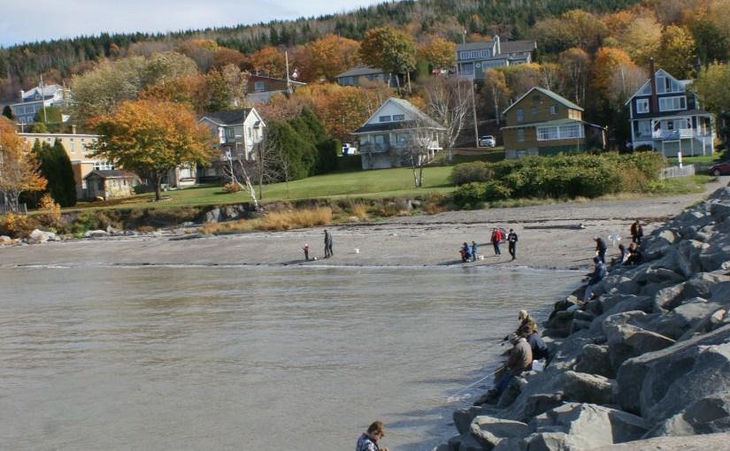 Pêche à l'éperlan au quai de Notre-Dame-du-Portage
