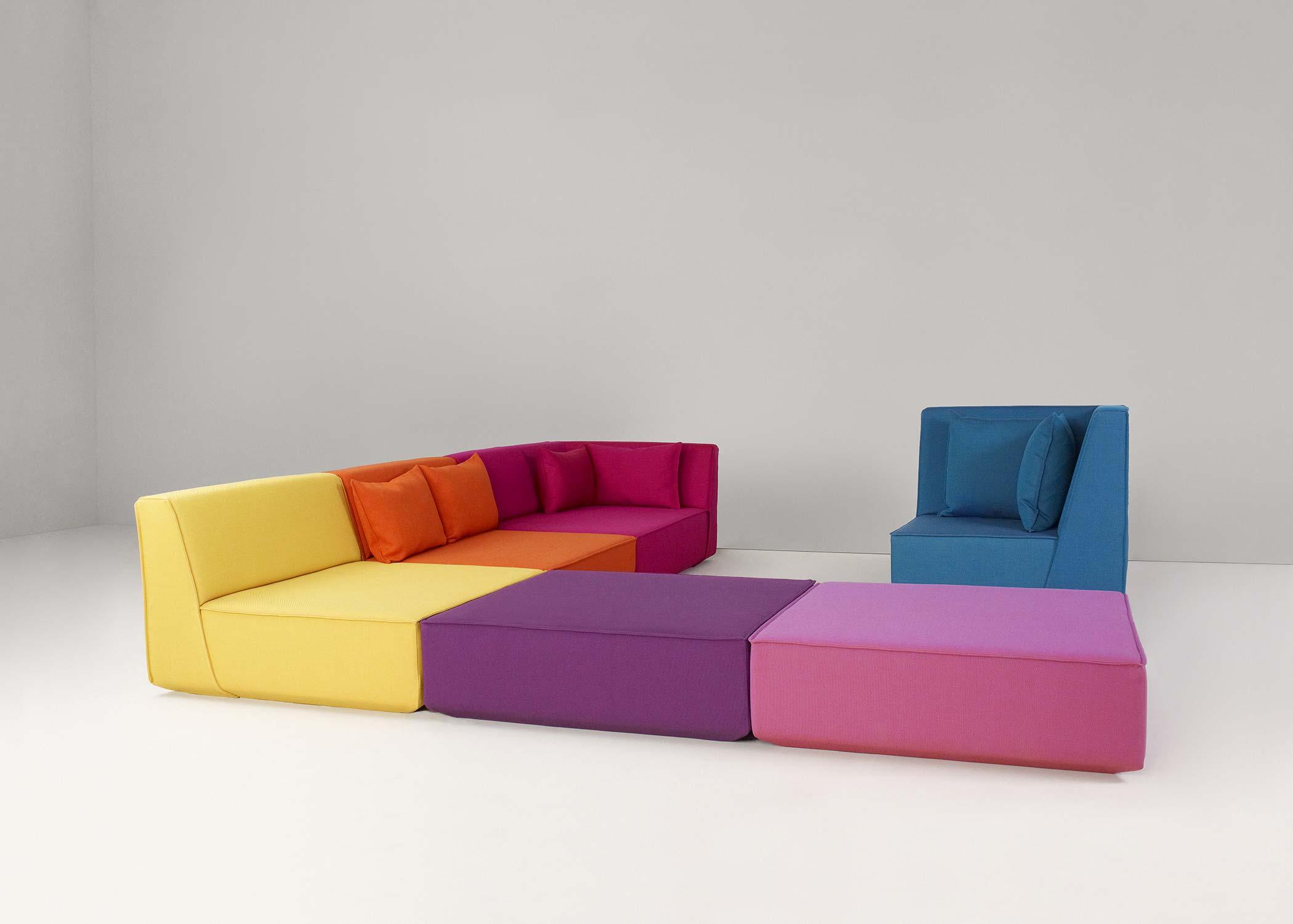 Canap Modulable Multicolore