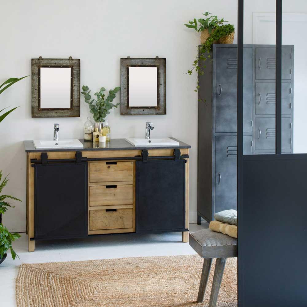 meubles industriels pour la salle de bains