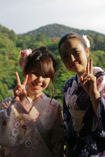 Copines au Kiyomizu-dera Temple