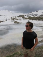 Choupi au lac gelé