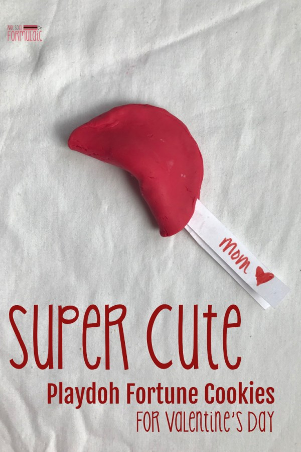 Super Cute Valentine Craft - Playdoh Fortune Cookies