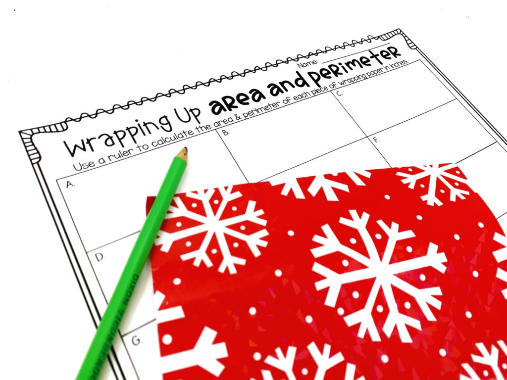 Free Christmas Area And Perimeter Math Activity