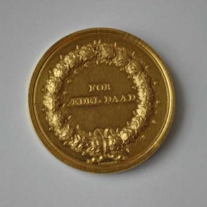Baksiden av medaljen Jøran fikk.
