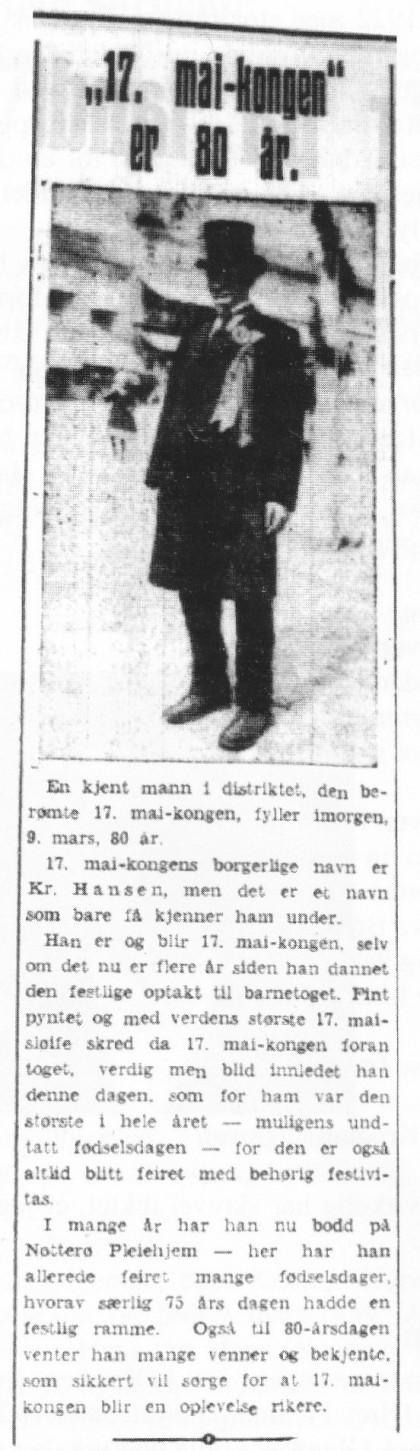 (Faksimile fra Tønsbergs Blad 8. mars 1939)