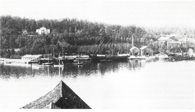 """Fagerheim ble etter """"ranet"""", liggende i Nøtterøy kommune fordi bygdens ordfører A. B. Bull bodde her."""