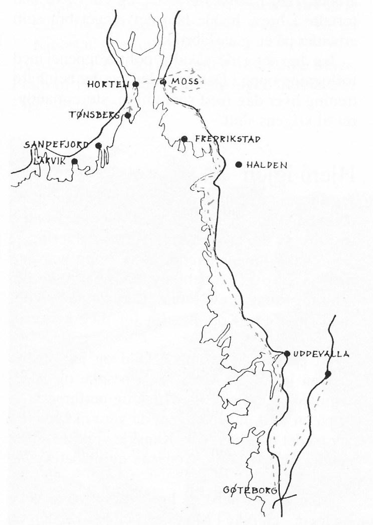 Teieguttenes fluktrute til Sverige.