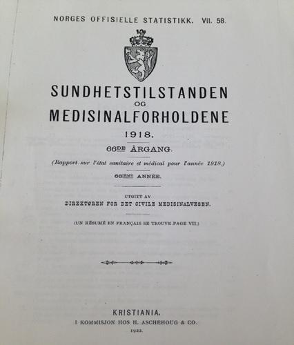 Spanskesyken i Vestfold 1918-1919