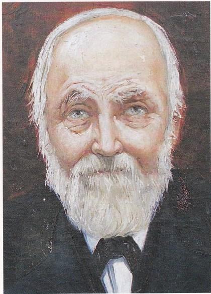 Svend Foyn malt av den omstridte Carl Døren-berger (1864-1940), født på Teie som ekte Nøtterøy-gutt.