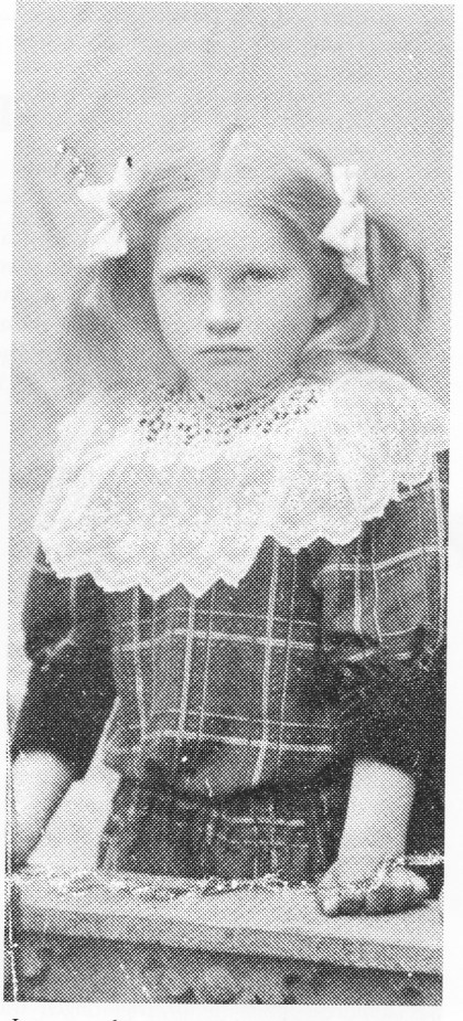 Irene som barn, oppvokst på Bjerka