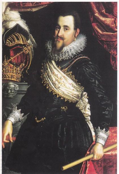Christian 4. var konge fra 1588 - 1648. Maleri fra 1612. Nationalhistorisk Museum, Fredriksborg.