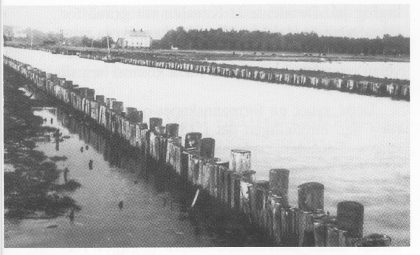 Den gamle Stenskanalen sett fra Ørsnes-siden. Foto: Vesffoldminne 1997.