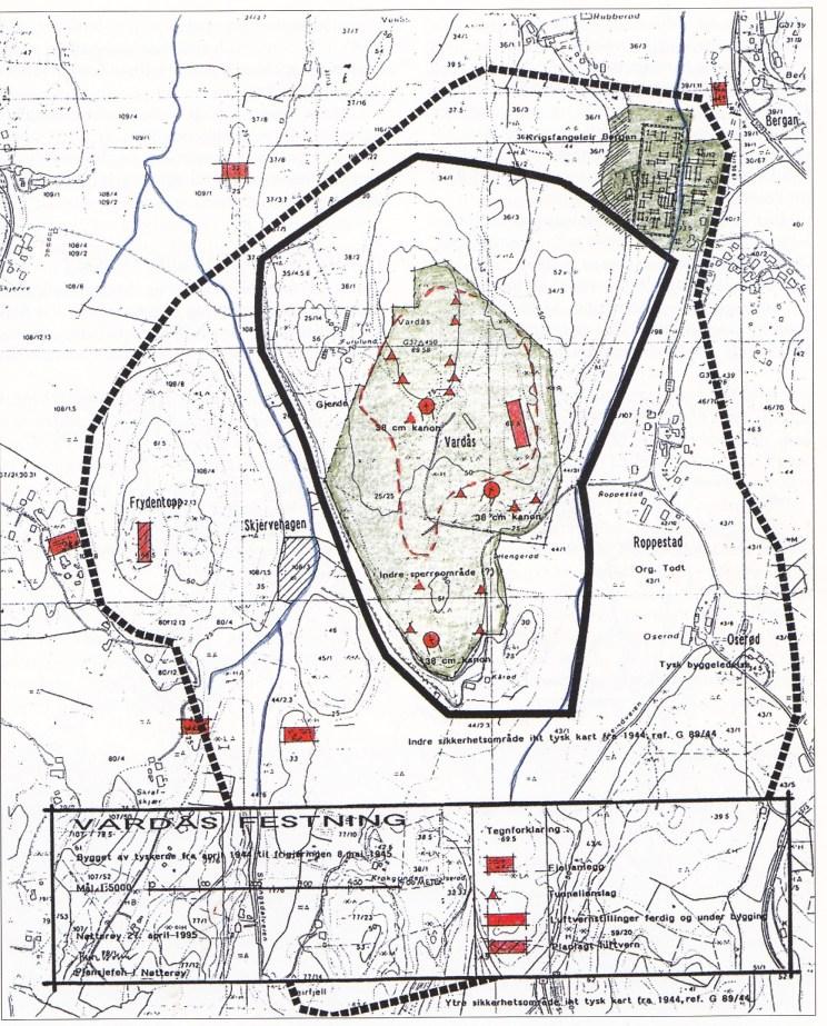 (Kart utarbeidet av Thore Holm i april 1995)