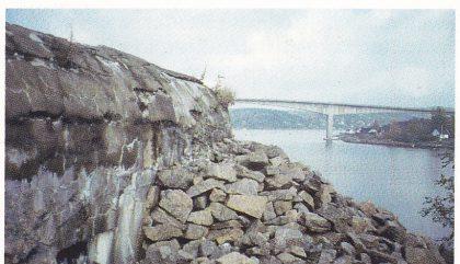 Mitraljøsestilling på Bjørnhue. (Th. Holm)