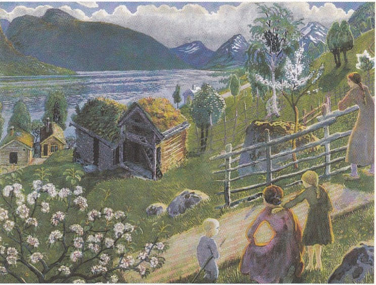 Nikolai Astrup: Sandalstrand (Astruptunet) 1927.