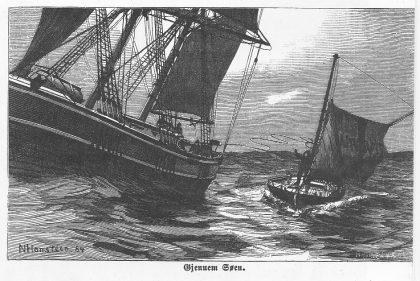 Illustrasjon fra C. Schollert: Lodsliv om Færder. Fabritius Christiania 1884.