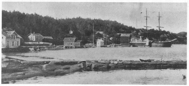 Sevika var utgangspunkt for Svend Foyns fangstskuter, som Vinje besøkte her.