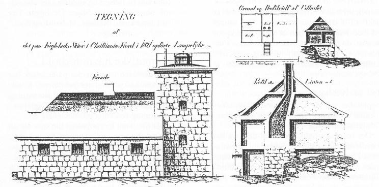 Tegning fra 1821.