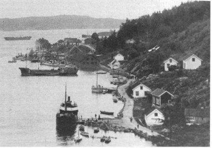 «Melis» ved Melisbrygga i Melsomvik 1905.