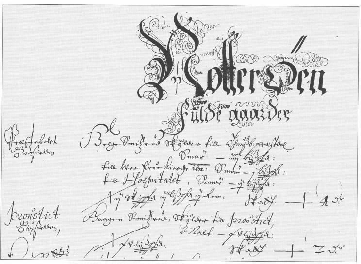 Faksimile av førstesiden av Nøtterøys skattematrikkel for 1647. (Riksarkivet)