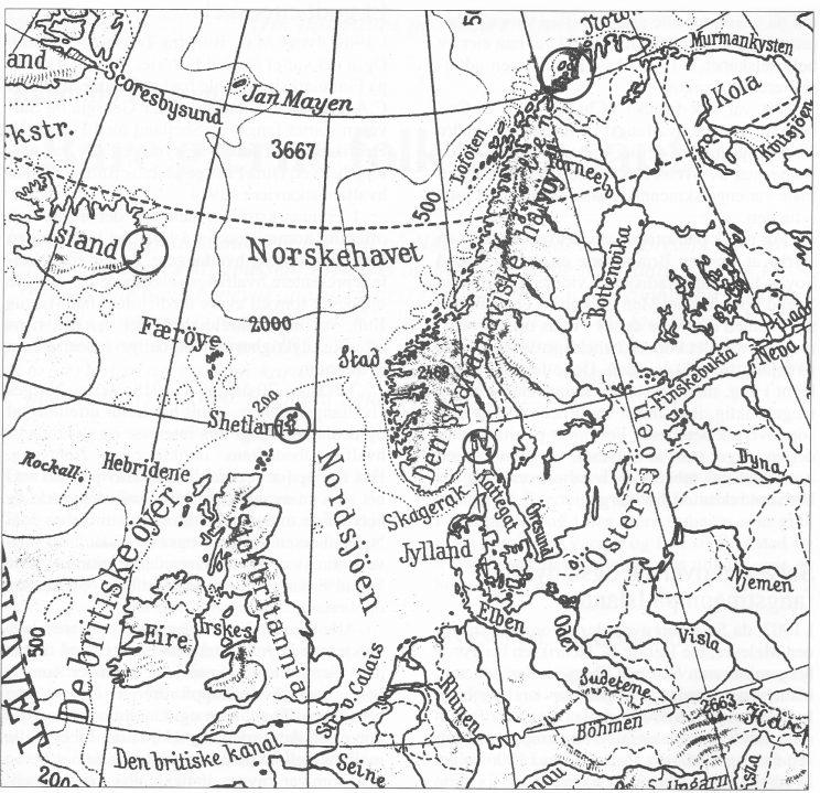 Hvalstasjoner i nordområdene. (S.H.)