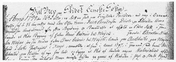 Bilbrevet for bark Eneste Søster; bygd på Oslebakke 1779-1798.