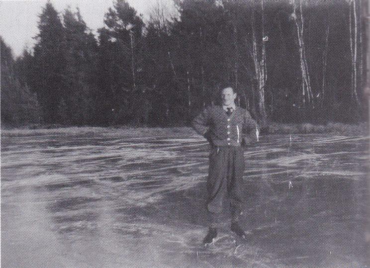 Jacob Paulsen på Strengsdalsvannet i 1949. (Foto utlånt av Grethe Horn)