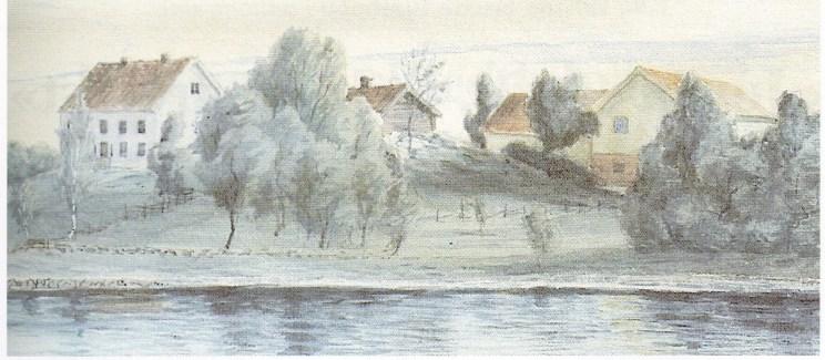 Bjørnebu malt i 1893 av Otto Valstad (Foto: Svein Hermansen)