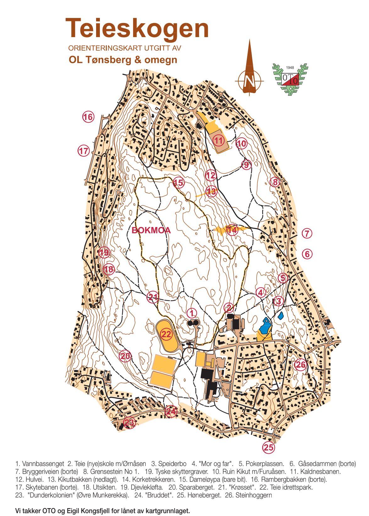 teieskogen kart Gjemt og glemt i Teieskogen – Nøtterøy Historielag teieskogen kart