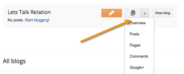 Blogspot Dashboard