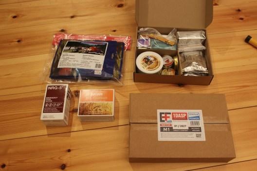 Verschiedene für einen Notvorrat geieignete Produkte