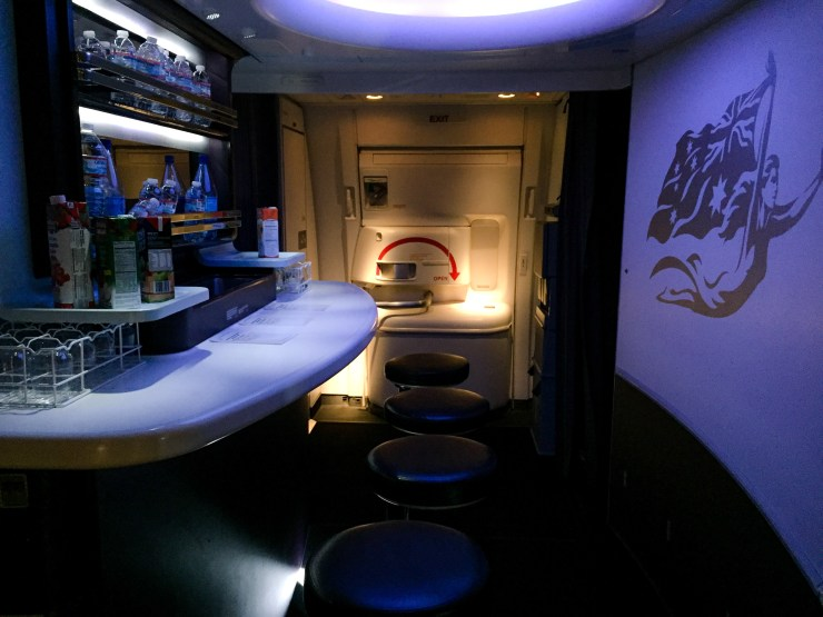 Business Class in Virgin Australia...with, you know, a bar.