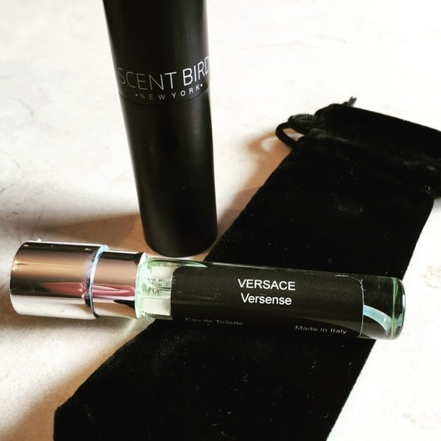 Scentbird case and versace perfume