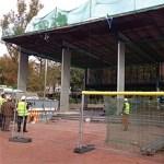 En marxa les obres per reformar la pèrgola del parc de Serra Martí