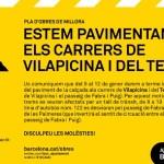 Obres de millora als carrers de Vilapicina i Teide
