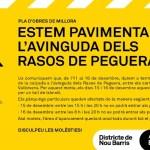 Obres de pavimentació a l'avinguda dels Rasos de Peguera