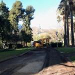 Tancada per obres la part baixa del parc de la Guineueta