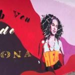 Un mural dedicat a les dones que dignifica l'espai
