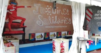 Punt de recollida de joguines solidàries a la via Júlia