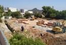 En marxa les obres de construcció d'una pista poliesportiva a l'espai del Campillo de la Virgen