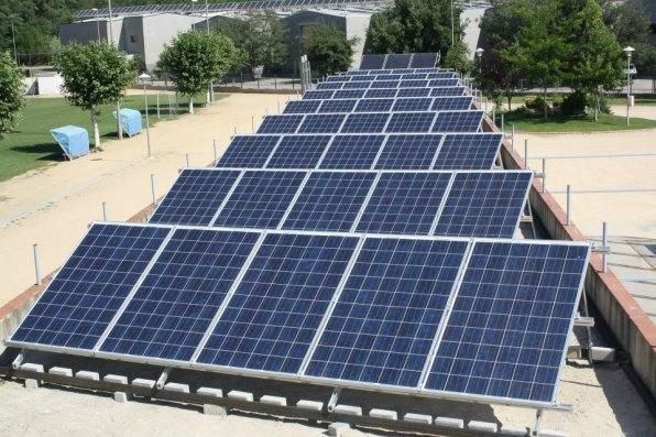 Instal·lació solar impulsada per Som Energia.