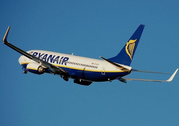 Un avión de Ryanair. Foto: Wikipedia
