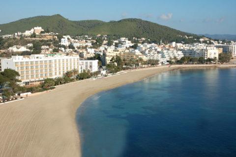 Playa de Santa Eulària.