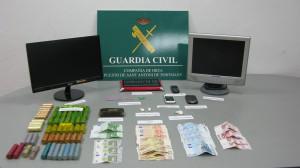 Imagen de una de las eprehensiones efectuadas por la Guardia Civil en Sant Antoni este año. Foto: Guardia Civil.
