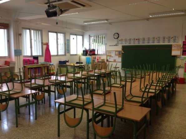 Imagen de un aula de un colegio de Primaria.